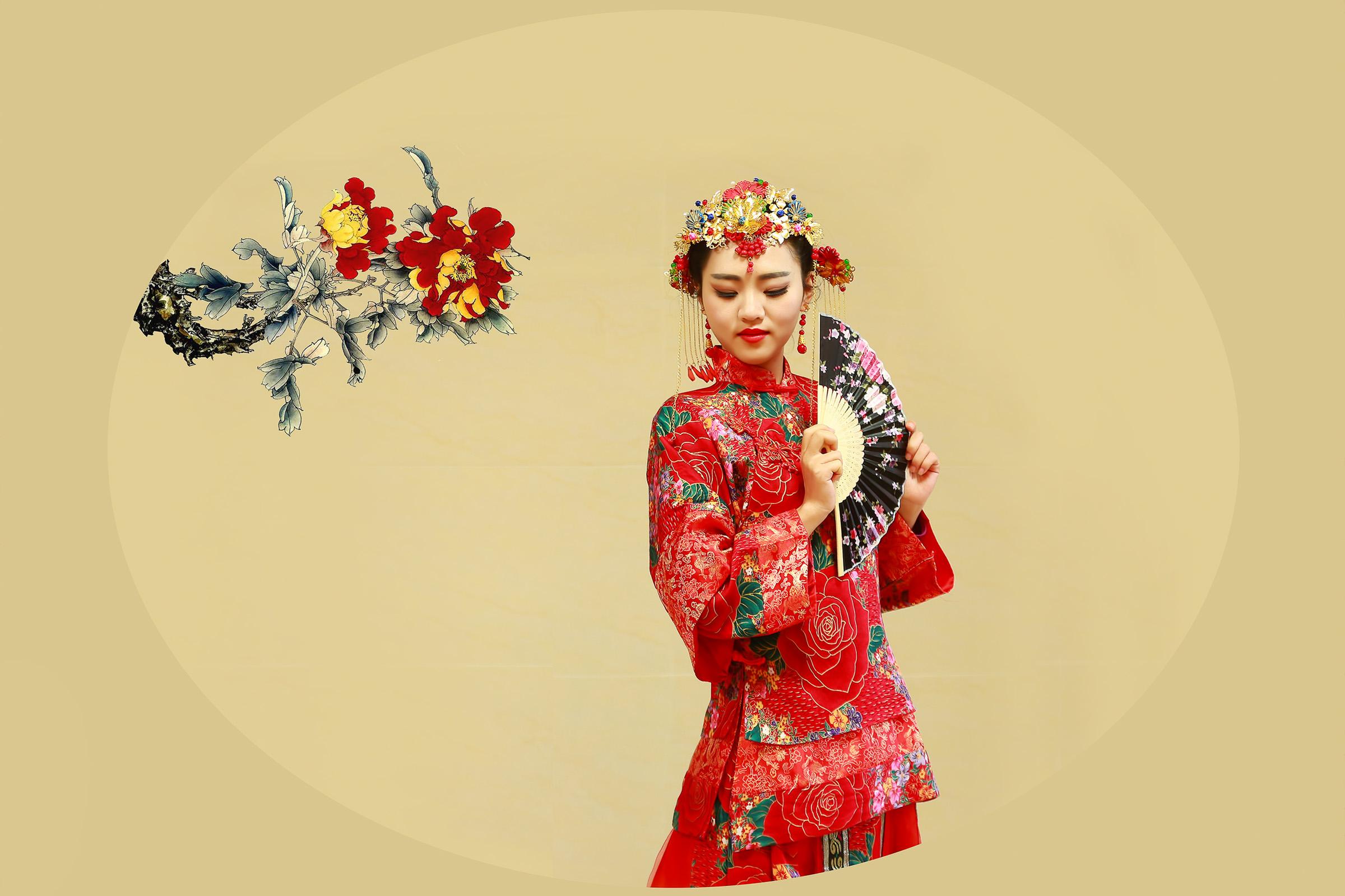 【制作音画人物素材二篇】古韵◆~女人花 - 浪漫人生 - .