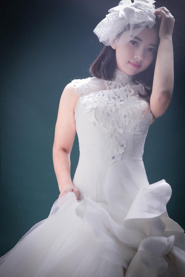 不织布婚纱贴画