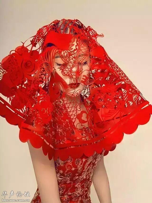 中国风剪纸礼服