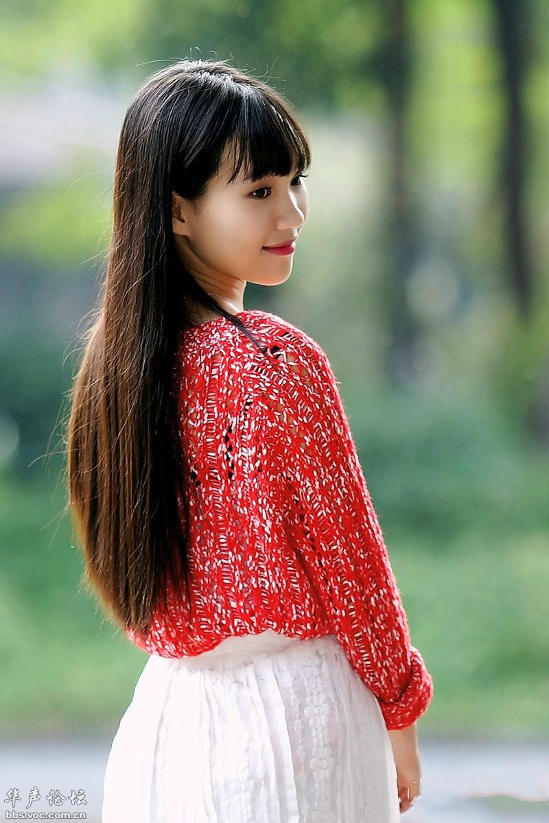 温柔可爱白裙少女 - 花開有聲 - 花開有聲