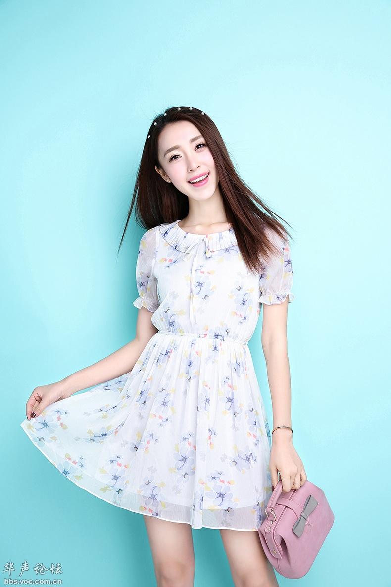 漂亮衣模  甜美笑容 - 花開有聲 - 花開有聲