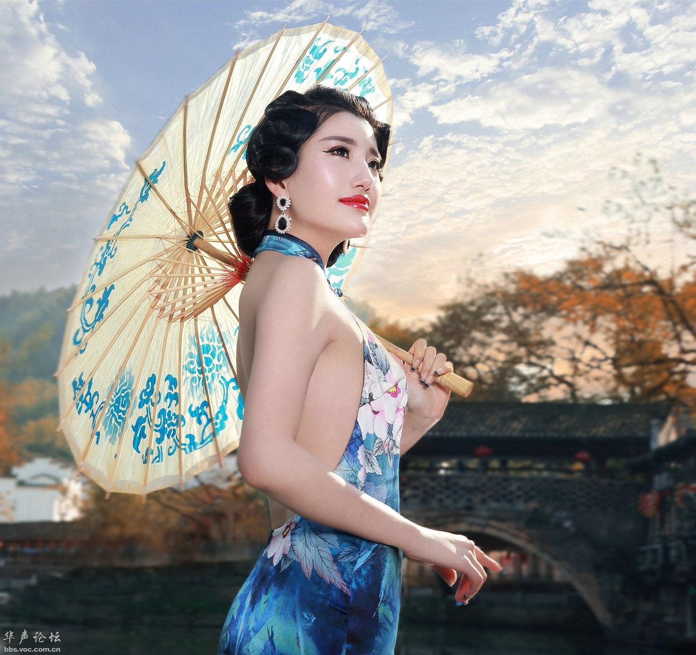 古韵旗袍彰显女性美 - 花開有聲 - 花開有聲