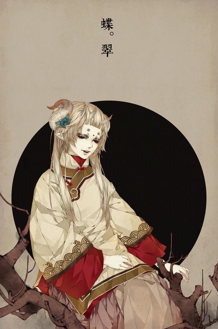 【蝶舞收集】暗黑系插画人物素材 图片素材 华声论坛