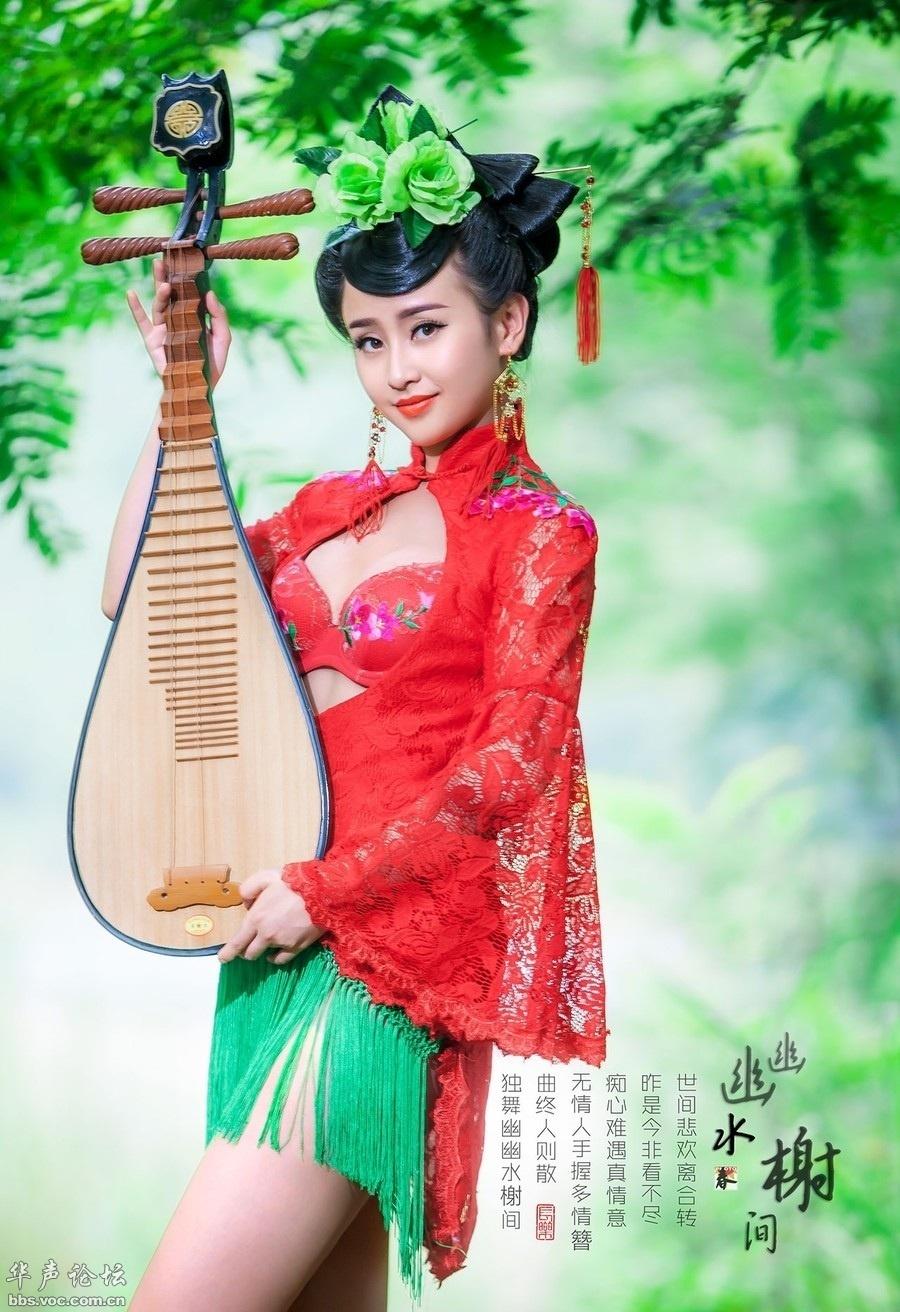 琵琶女 汉服-性感古装琵琶美女
