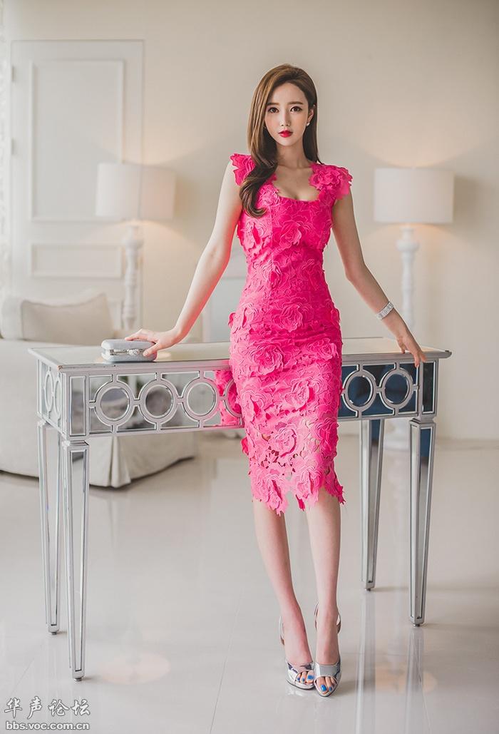 性感女神  粉色长裙 - 花開有聲 - 花開有聲