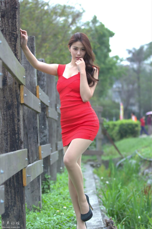 长发红裙  美腿少妇 - 花開有聲 - 花開有聲