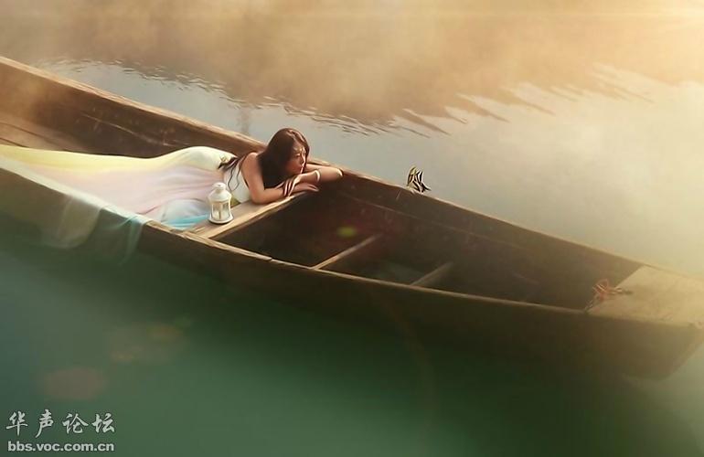 美女与船 - 花開有聲 - 花開有聲