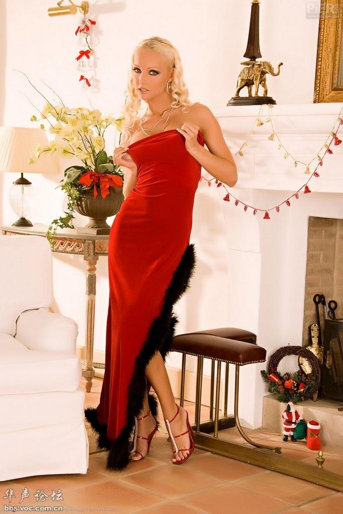 欧美金发  紅衣女郎 - 花開有聲 - 花開有聲