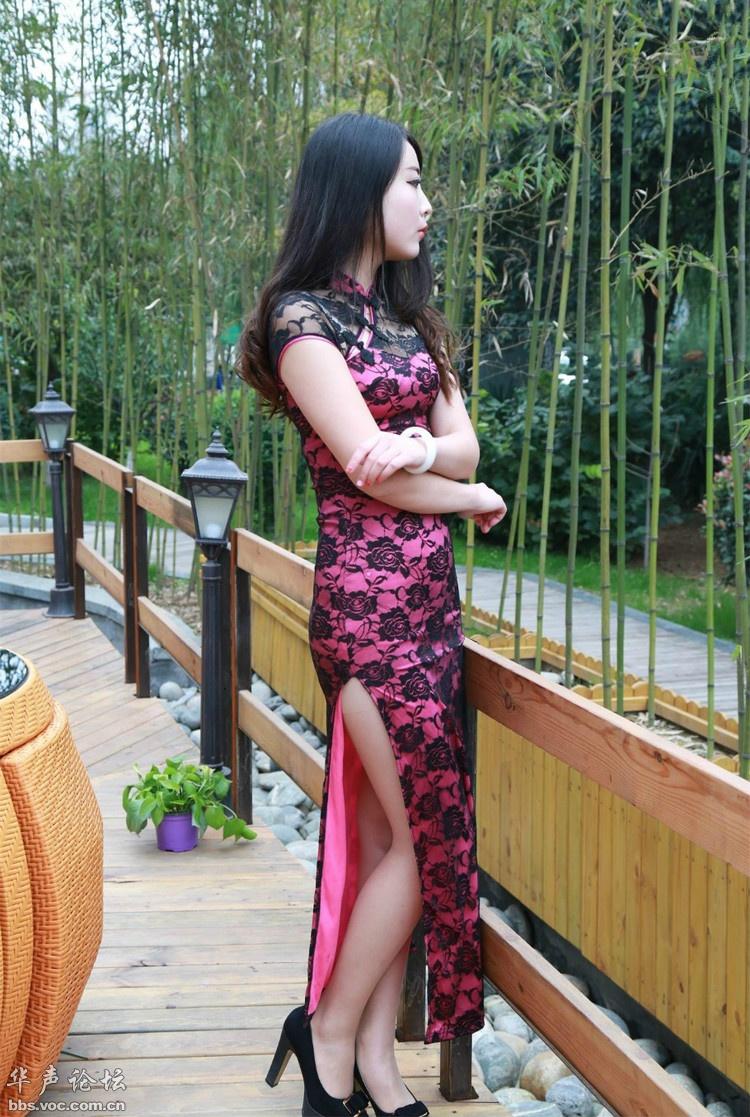 长发美女  旗袍风韵 - 花開有聲 - 花開有聲