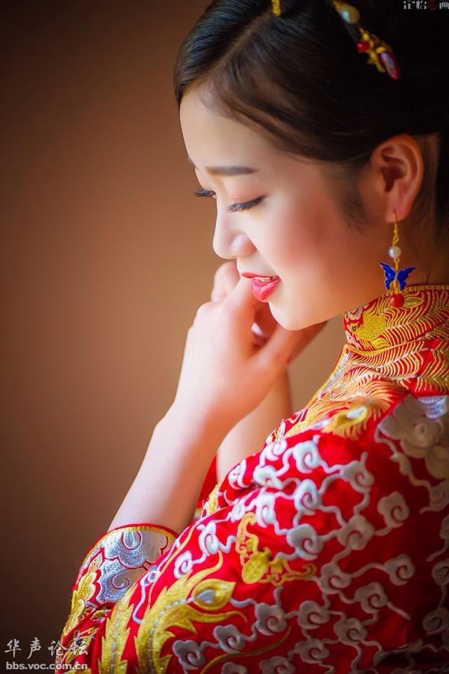 【美图欣赏】   漂亮的新娘   迷人的酒窝 - 天际夕阳 - 天际夕阳的博客