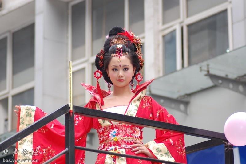 【古韵美图】 美丽的宫装少女 - 天际夕阳 - 天际夕阳的博客
