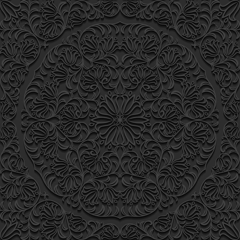 黑色浮雕纹理背景素材之一
