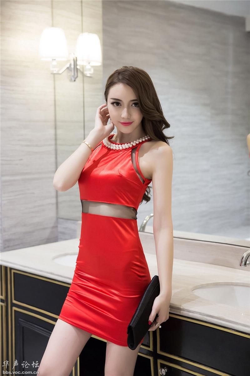 模特红裙秀 - 花雕美图苑 - 花雕美图苑