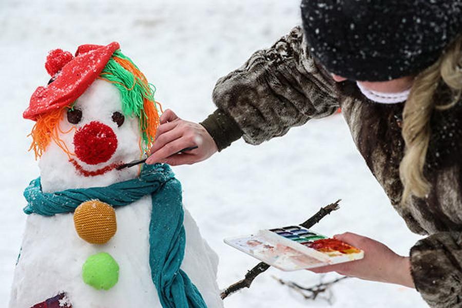 [贴图]******大开眼界:俄罗斯莫斯科堆雪人大赛剪影******[分享]