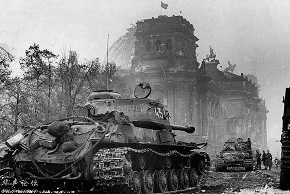 45年苏军攻占纳粹德国国会大厦
