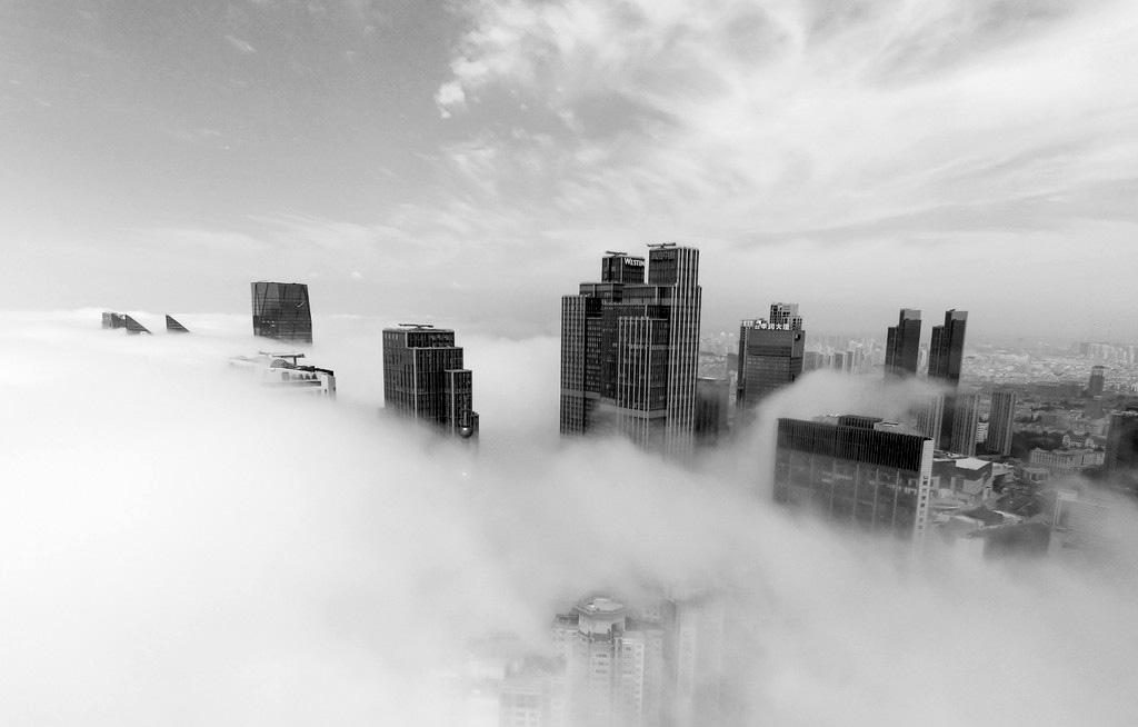 【大美中国】航拍青岛平流雾 - 今日延安 - 今日延安影视音画博客