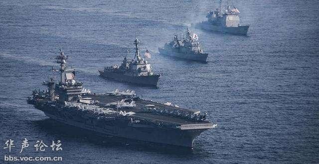 """卡尔.文森""""号航空母舰战斗群改航前往邻近朝鲜半岛的西太平洋)-"""
