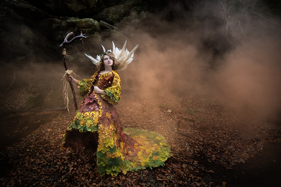 摄影与造型的完美结合这才叫拍摄森系女神