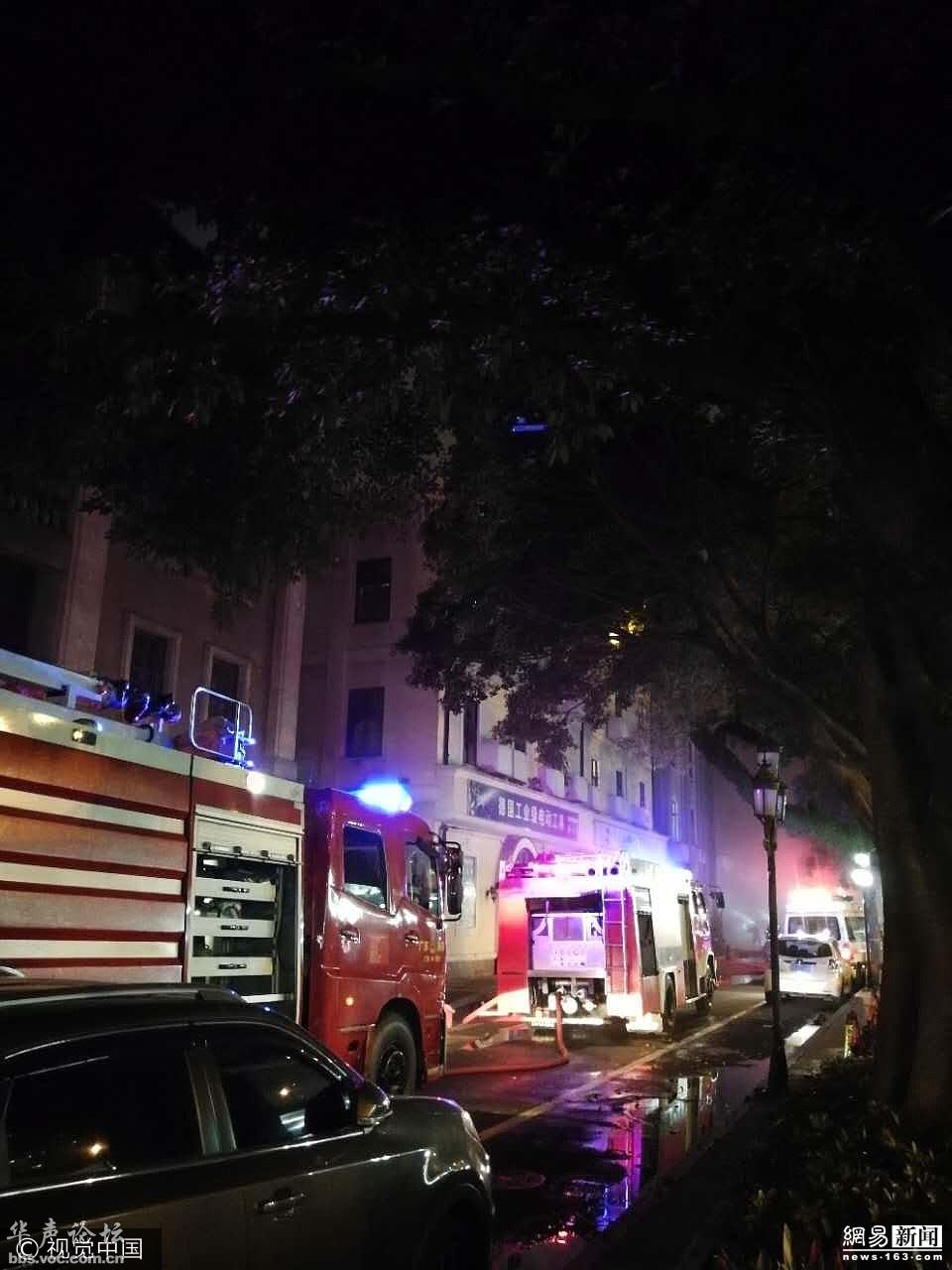 广州沙面岛突发大火 历史建筑彻底被毁