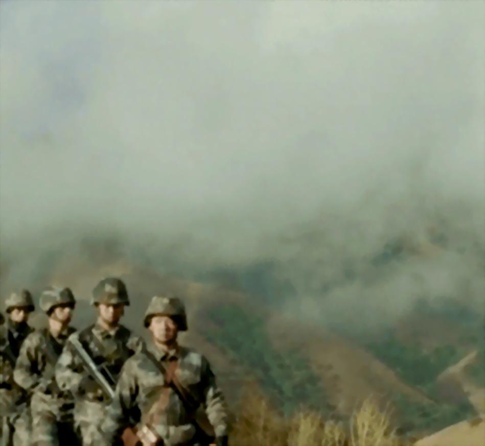 有安全感 剪影解放军边防战士