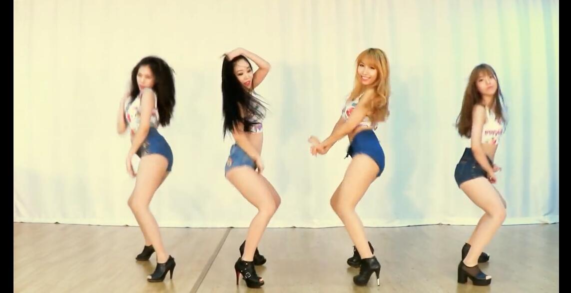 韩性感女团 Waveya 最强电臀热舞《Mi Mi Mi》