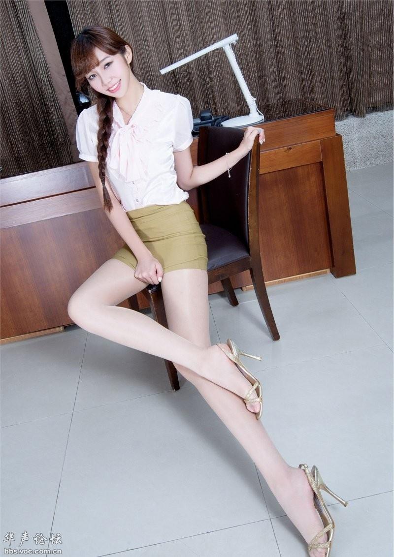 情色丝袜图片_黄色包臀裙美女模特肉丝袜长腿写真 - 美女贴图 - 华声论坛