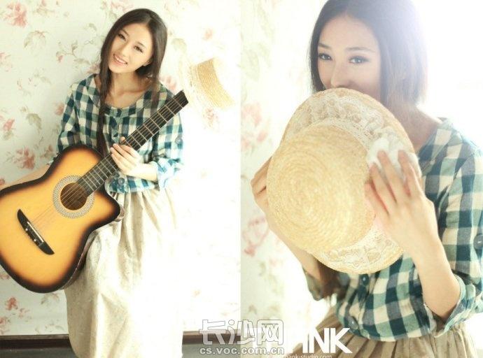 唯美女生弹吉他图片 qq女生头像唯美弹吉他 唯美女生头像弹吉他的