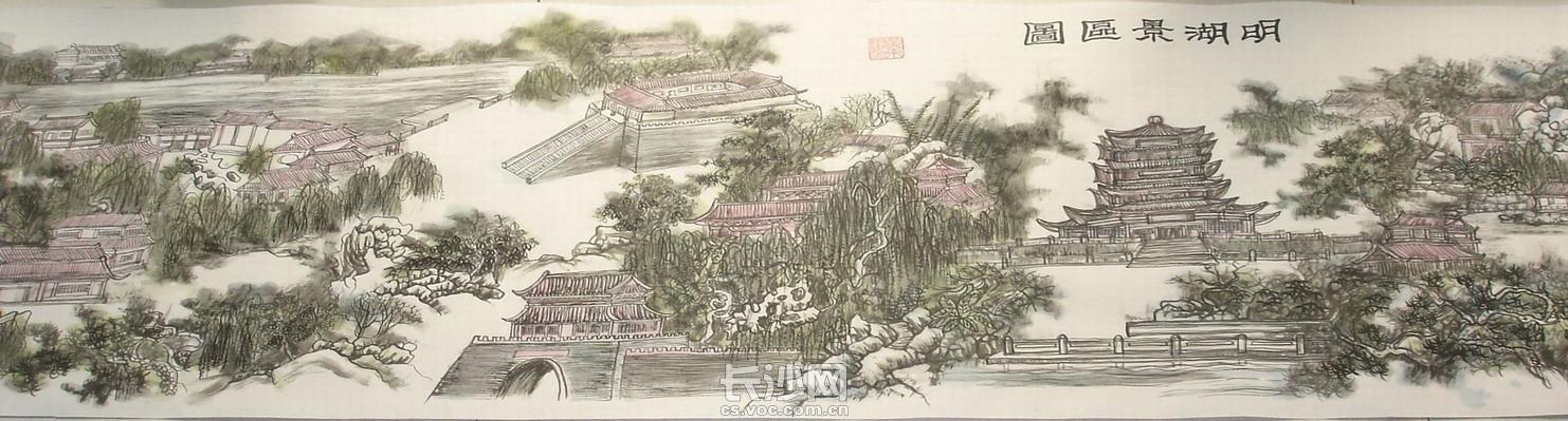 黄东雷国画《明湖景区图》-01.JPG