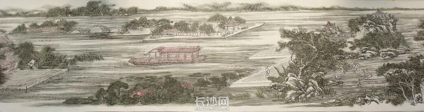 黄东雷国画《明湖景区图》-03.JPG