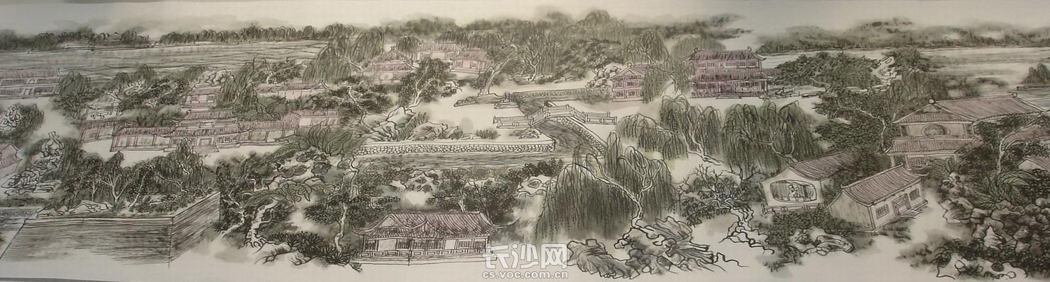 黄东雷国画《明湖景区图》-04.JPG