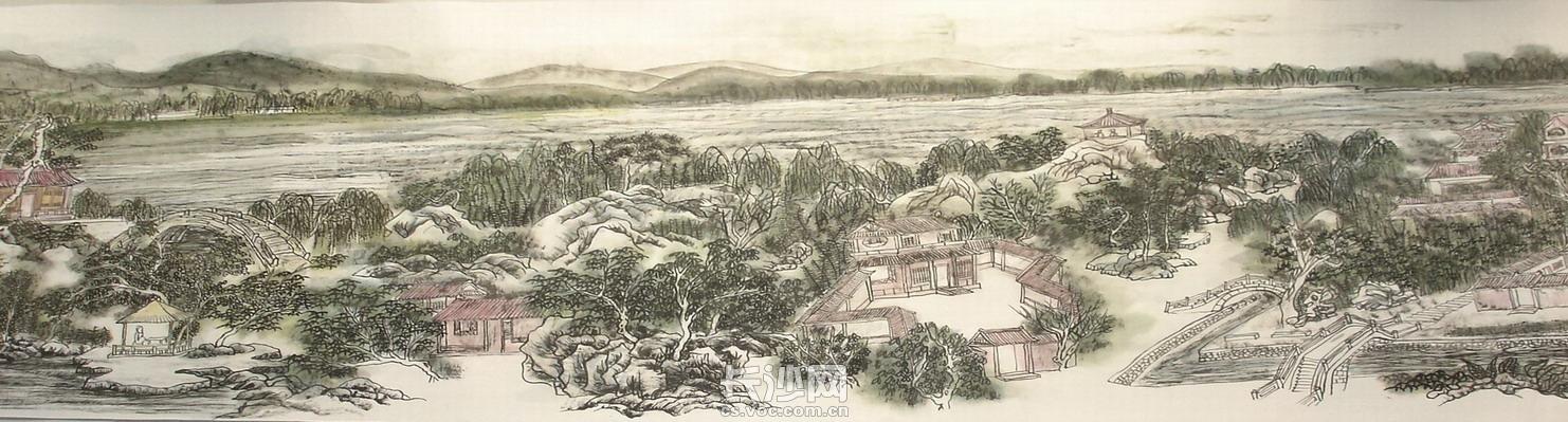 黄东雷国画《明湖景区图》-05.JPG