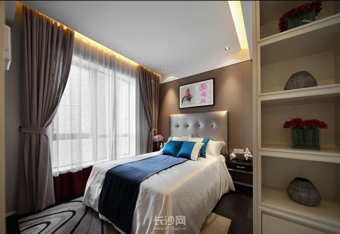凤凰城97平 现代简约风格3房2厅 装修效果图 长沙实创装饰高清图片
